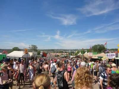 Exploring the festival.